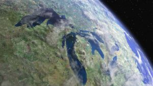 Earth Great Lakes Space Usa View Canada Cosmos